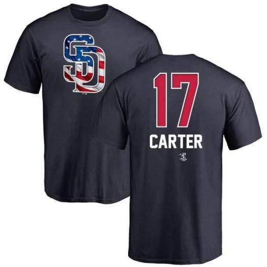Joe Carter San Diego Padres Youth Navy Name and Number Banner Wave T-Shirt -